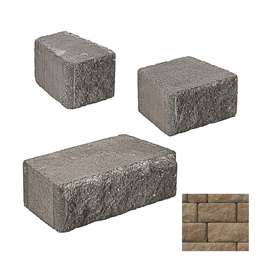 Belgard Anchor Highland Gascony Tan Retaining Wall Block (Common: 6-in x 2-in; Actual: 6-in x 1.5-in)