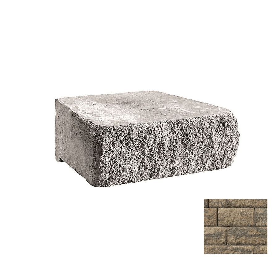 Belgard Highland Cotswold Mist Retaining Wall Block (Common: 6-in x 18-in; Actual: 6-in x 18-in)