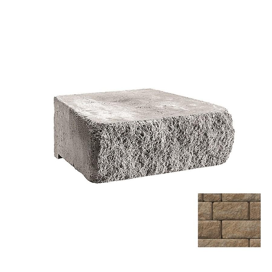 Belgard Highland Gascony Tan Retaining Wall Block (Common: 6-in x 18-in; Actual: 6-in x 18-in)
