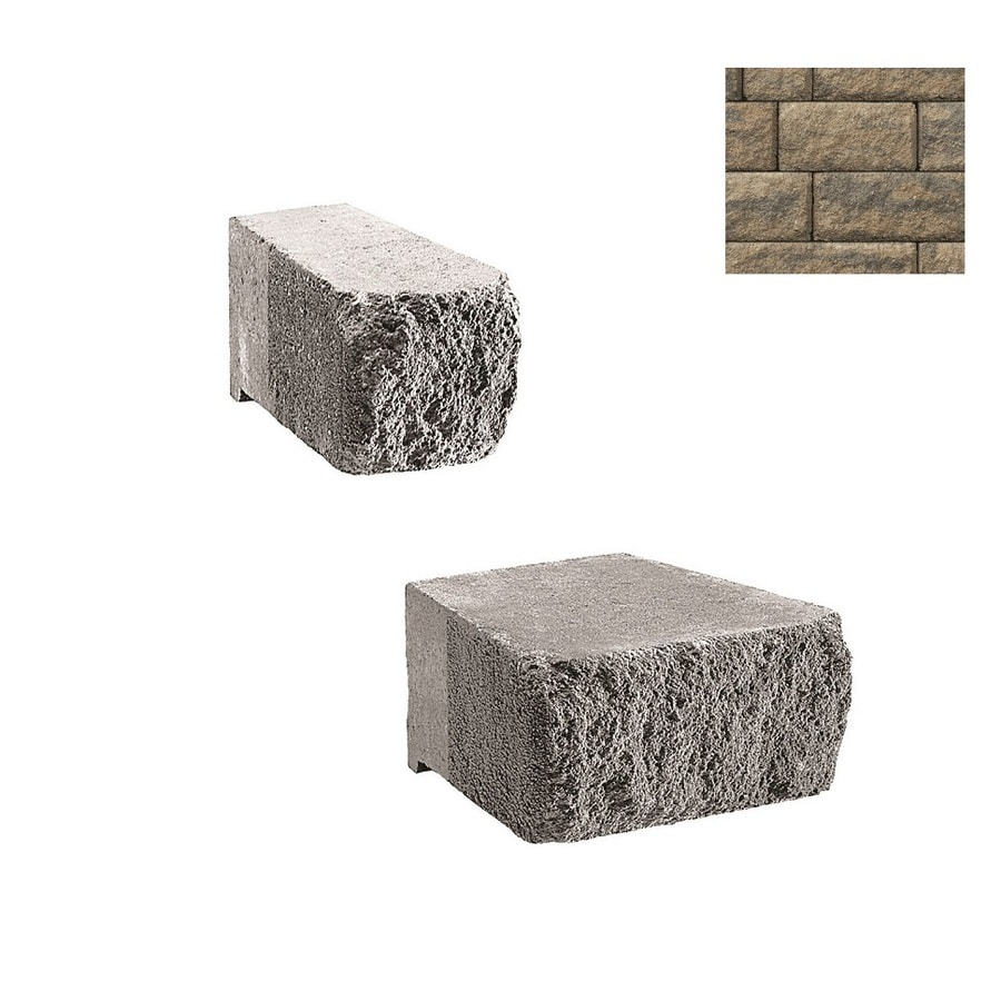 Belgard Anchor Highland Cotswold Mist Retaining Wall Block (Common: 6-in x 6-in; Actual: 6-in x 6-in)