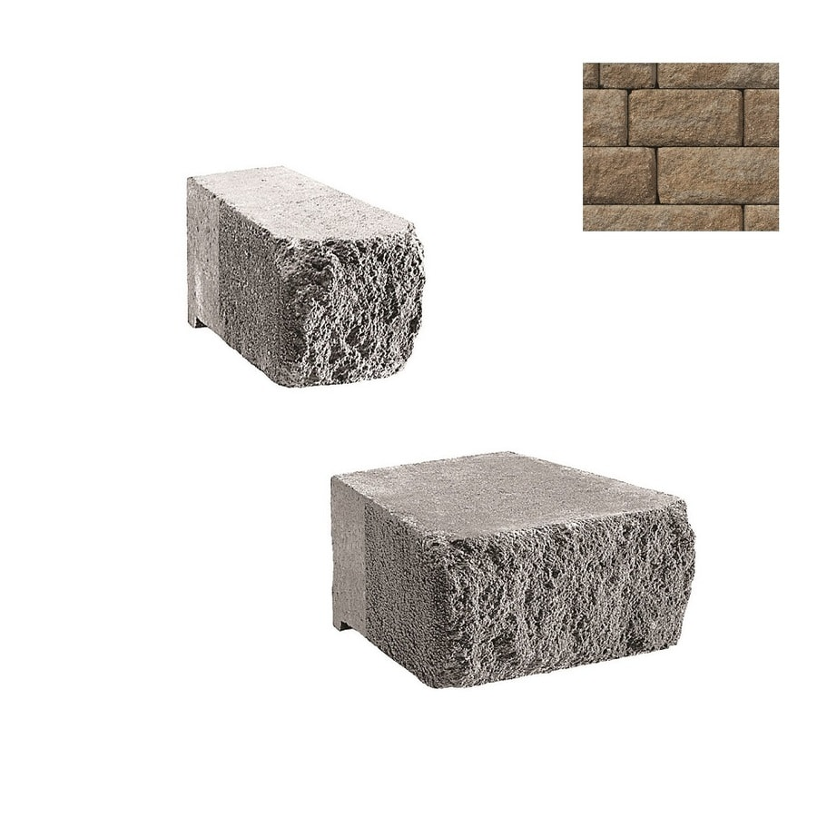Belgard Highland Cotswold Mist Retaining Wall Block (Common: 6-in x 6-in; Actual: 6-in x 6-in)