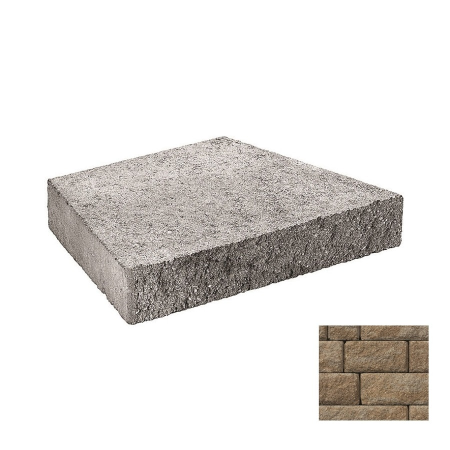 Belgard Anchor Highland Gascony Tan Retaining Wall Cap (Common: 3-in x 2-in; Actual: 3-in x 1.8-in)
