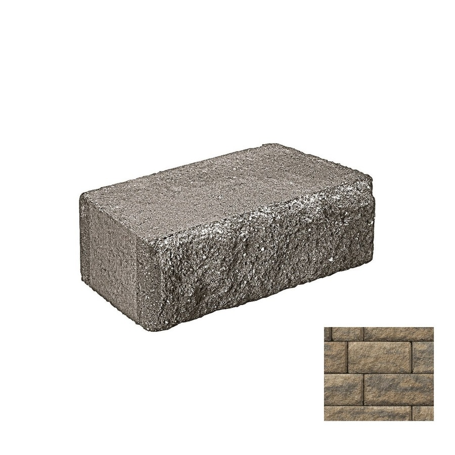 Belgard Highland Cotswold Mist Retaining Wall Block (Common: 6-in x 2-in; Actual: 6-in x 1.125-in)