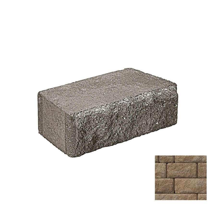 Belgard Anchor Highland Gascony Tan Retaining Wall Block (Common: 6-in x 2-in; Actual: 6-in x 1.125-in)