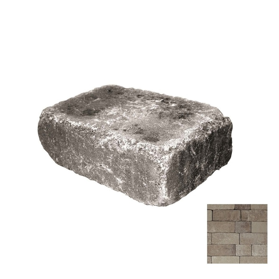 Belgard Weston Danville Beige Retaining Wall Block (Common: 4-in x 12-in; Actual: 4-in x 12-in)