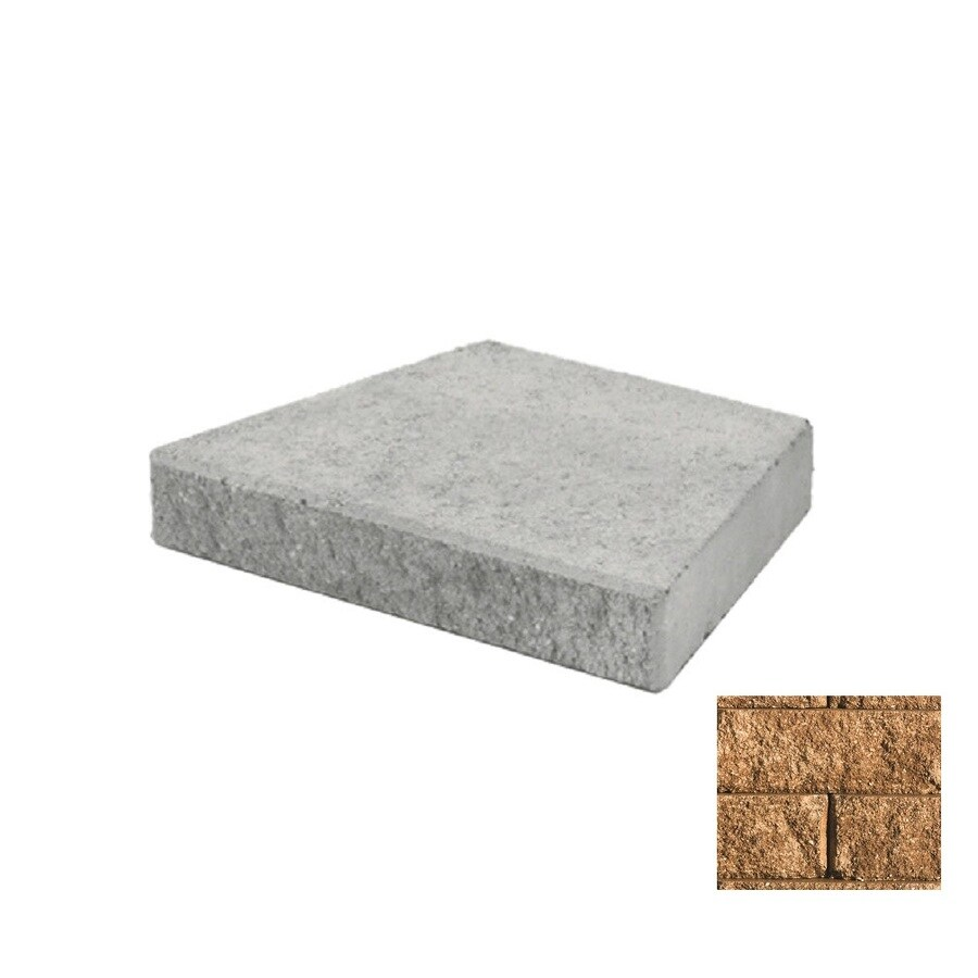 Belgard Anchor Diamond Sandstone Retaining Wall Cap (Common: 3-in x 15-in; Actual: 3-in x 14.5-in)
