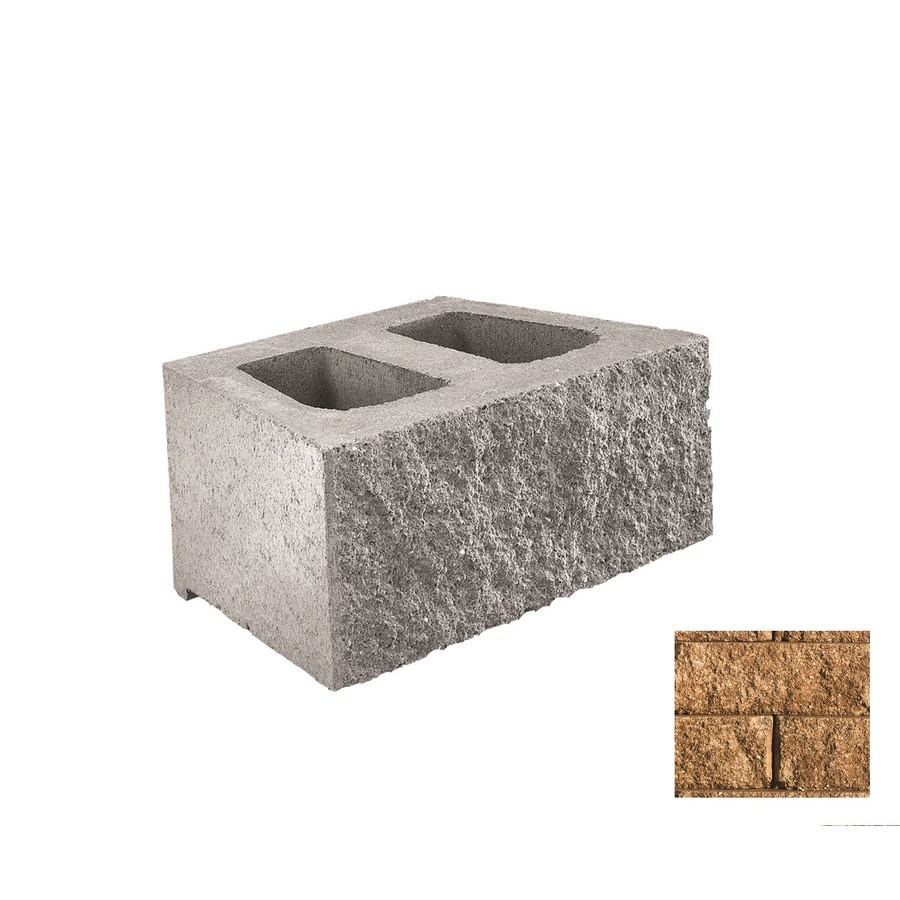 Belgard Diamond Sandstone Retaining Wall Block (Common: 6-in x 18-in; Actual: 6-in x 17.75-in)