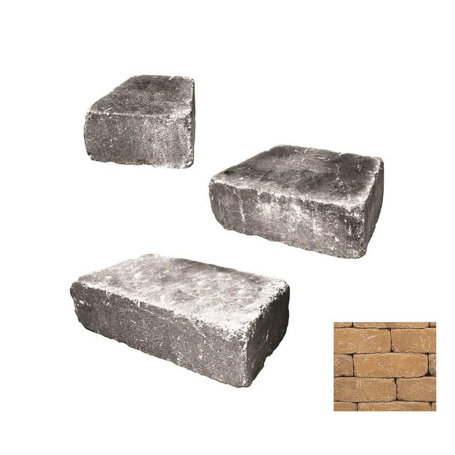 Belgard Weston Gascony Tan Retaining Wall Block (Common: 4-in x 2-in; Actual: 4-in x 1.33-in)