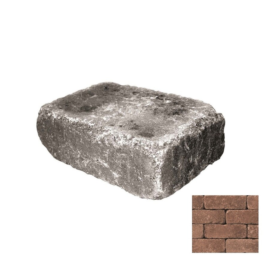 Belgard Weston Aspen Blend Retaining Wall Block (Common: 4-in x 12-in; Actual: 4-in x 12-in)