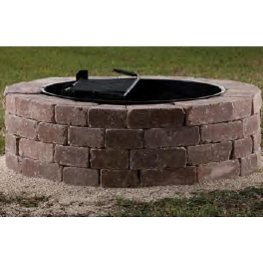 Belgard Firepit Kit 55-in W x 55-in L Rivers Edge Concrete Fire - Shop Belgard Firepit Kit 55-in W X 55-in L Rivers Edge Concrete Fire