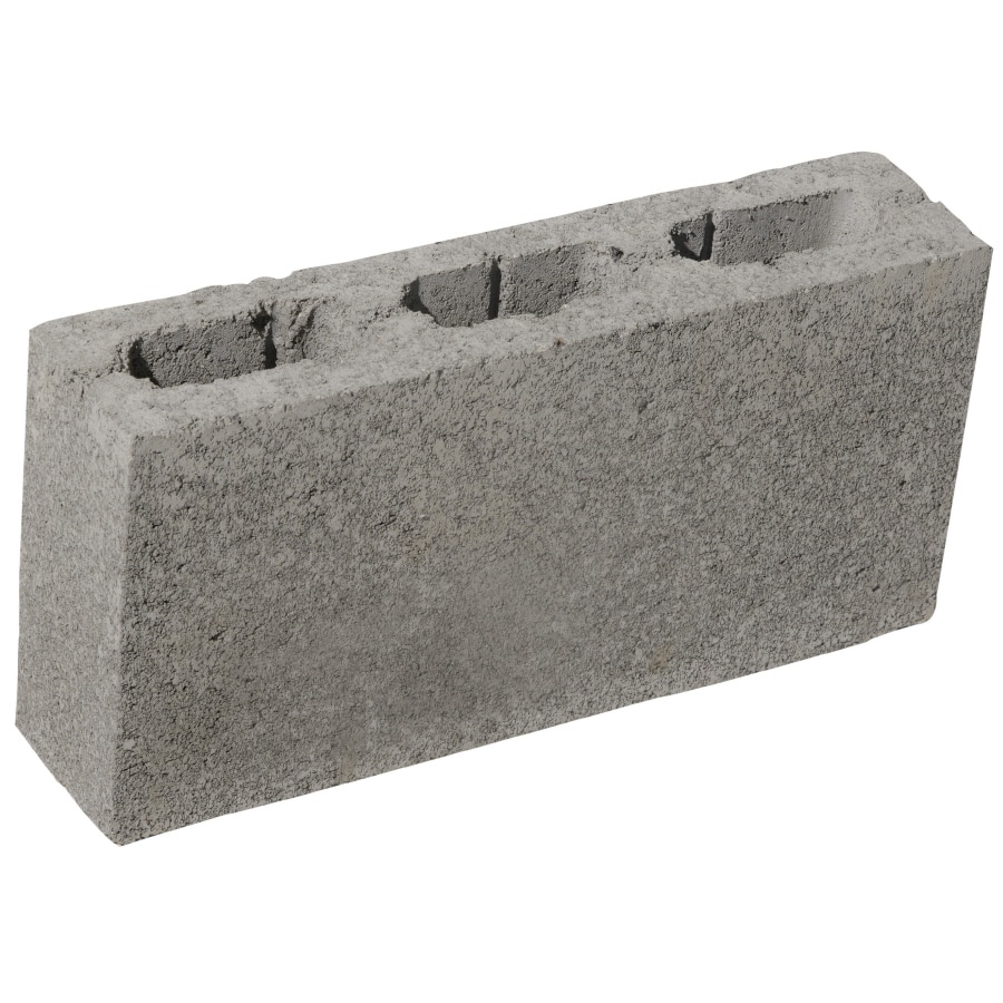 Oldcastle Concrete Fence Block (Common: 8-in x 4-in x 16-in; Actual: 7.875-in x 3.5-in x 15.5-in)