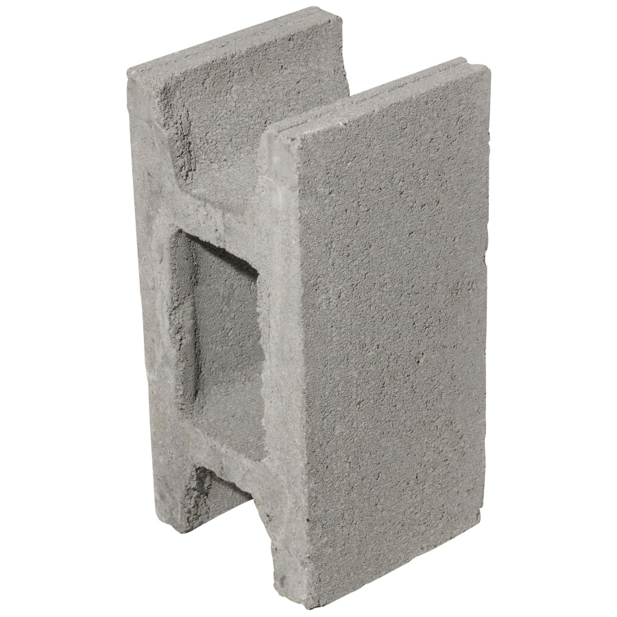 Oldcastle Concrete Fence Block (Common: 8-in x 8-in x 16-in; Actual: 7.875-in x 7.5-in x 15.5-in)