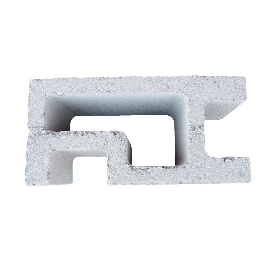 Oldcastle Concrete Corner Fence Block (Common: 8-in x 8-in x 16-in; Actual: 7.875-in x 7.5-in x 15.5-in)