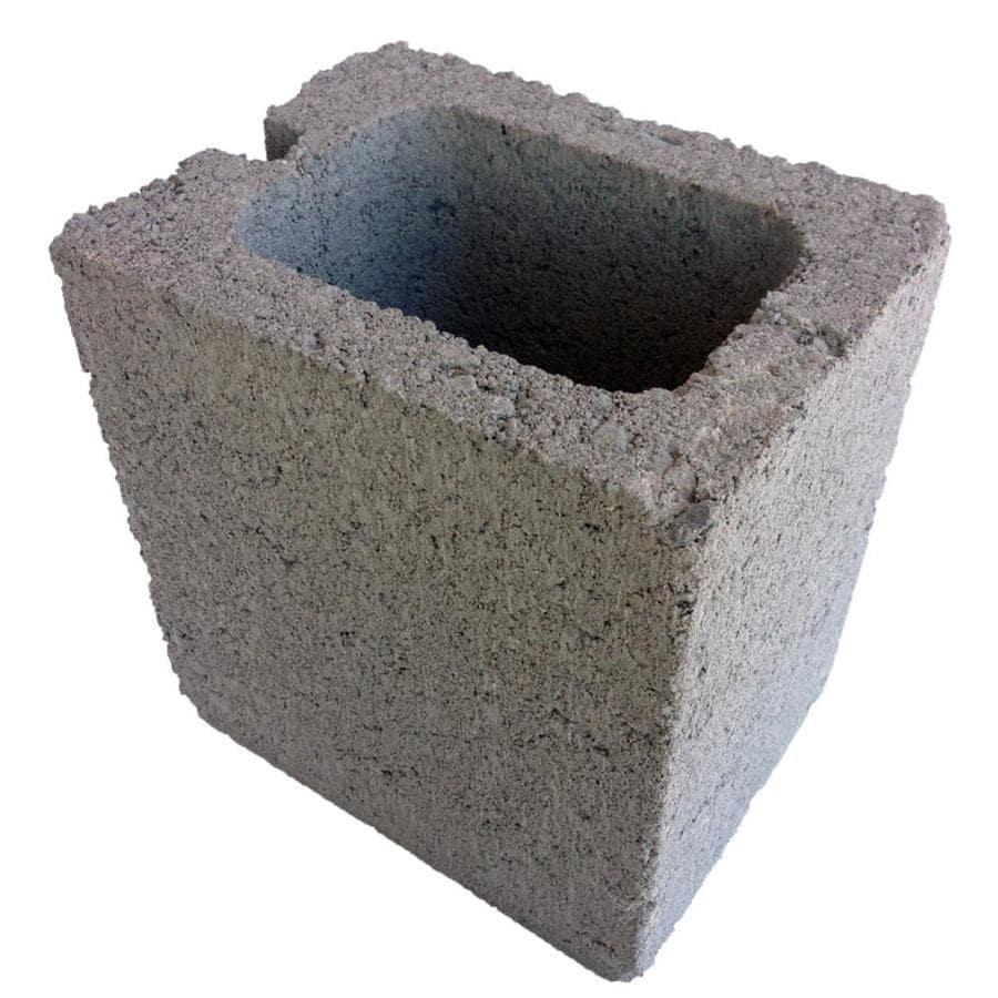 Oldcastle (Common: 6-in x 8-in x 8-in; Actual: 5.63-in x 7.63-in x 7.63-in) Half Concrete Block