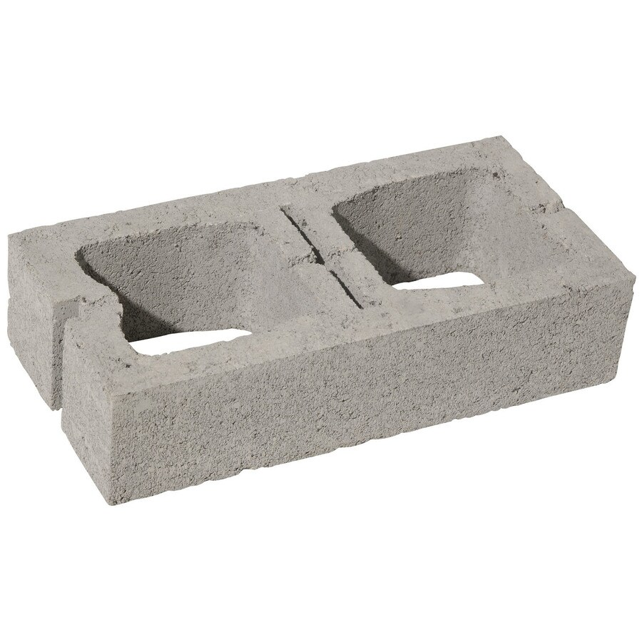 Medium Weight Half Concrete Block (Common: 8-in x 4-in x 16-in; Actual: 7.5-in x 3.5-in x 15.5-in)