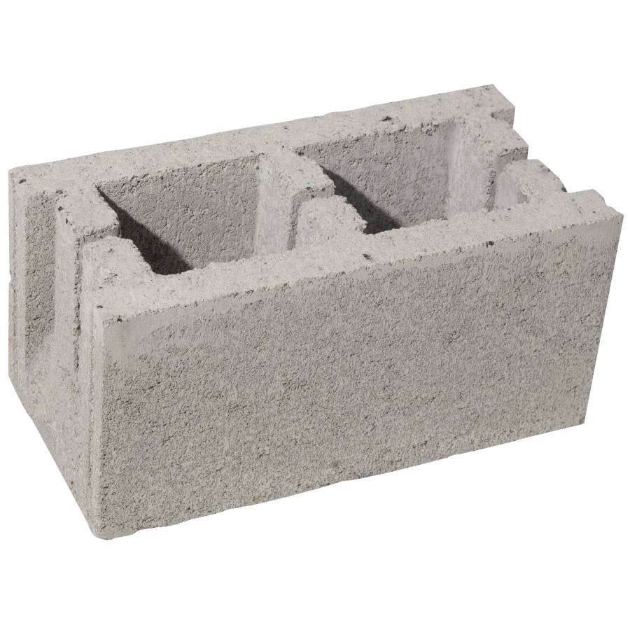 (Common: 8-in x 8-in x 16-in; Actual: 7.5-in x 7.5-in x 15.5-in) Standard Concrete Block
