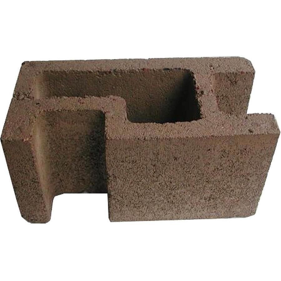 Oldcastle (Common: 8-in x 8-in x 16-in; Actual: 7.875-in x 7.5-in x 15.5-in) Concrete Corner Fence Block