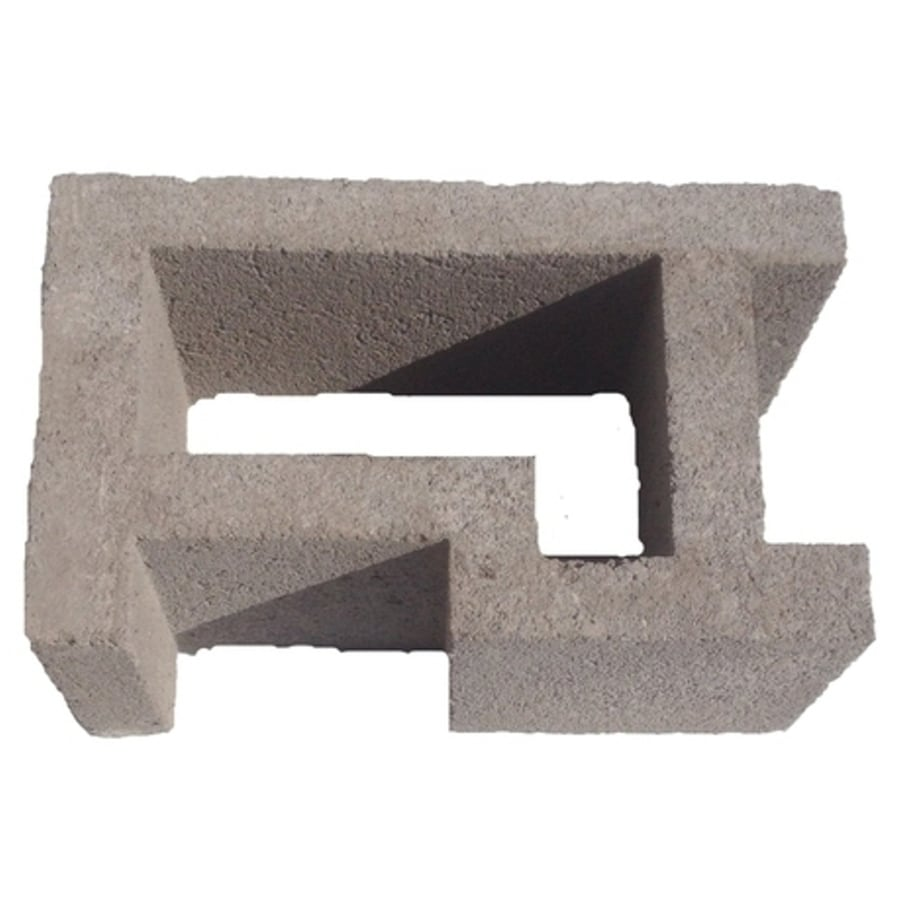 Oldcastle Concrete Corner Fence Block (Common: 8-in x 12-in x 16-in; Actual: 7.875-in x 11.5-in x 15.5-in)