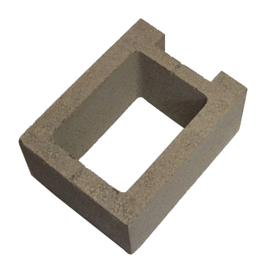 Oldcastle Concrete Fence Block (Common: 8-in x 12-in x 16-in; Actual: 7.875-in x 11.5-in x 15.5-in)