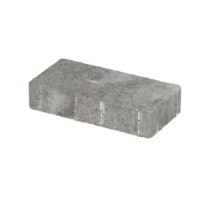 Holland Gray Charcoal Concrete Paver Common 4 In X 8 In
