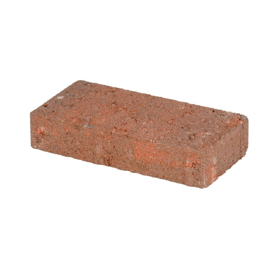 Holland Red/Charcoal Paver (Common: 4-in x 7-in; Actual: 3.8-in x 7.7-in)