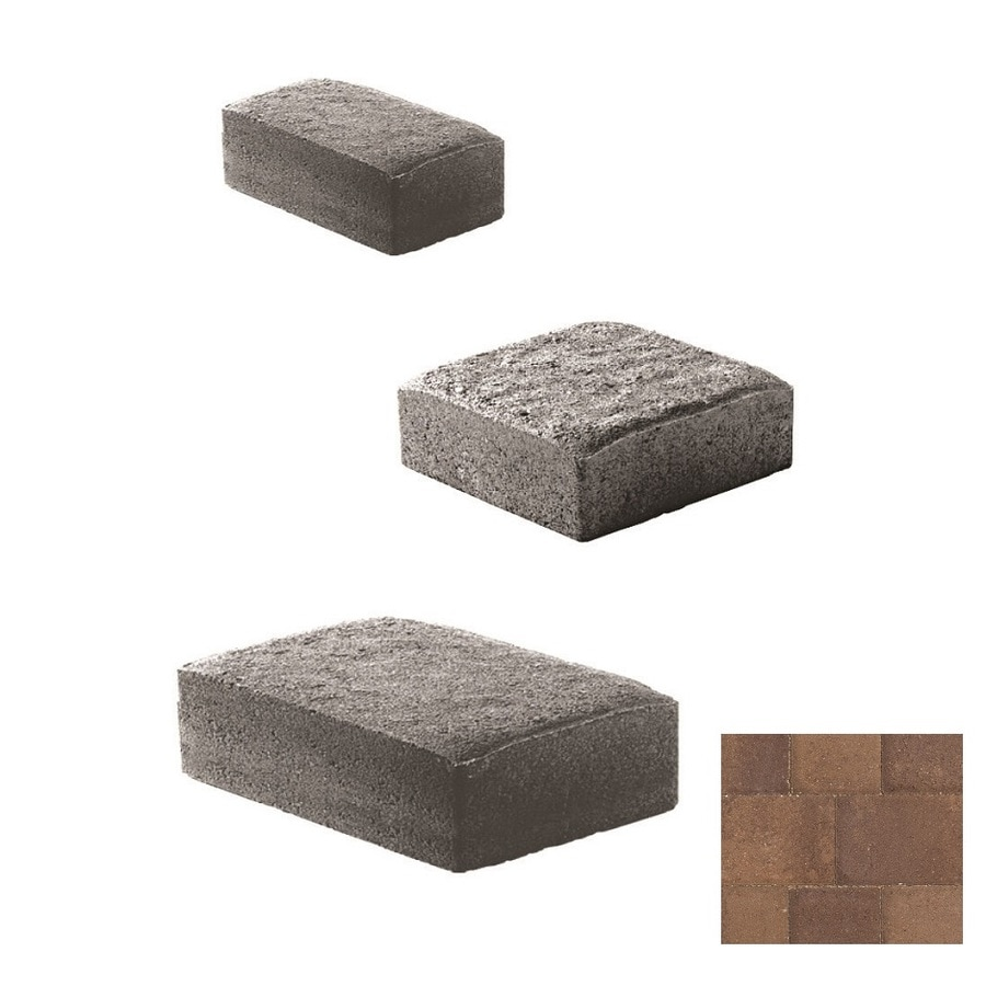 Oldcastle Cambridge Cobble Brown-chestnut Paver (Common: 6-in x 6-in; Actual: 6-in x 6-in)