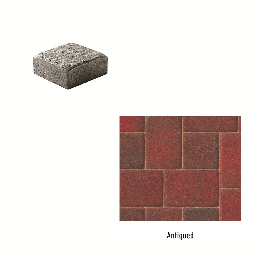 Oldcastle Cambridge Antiqued Paver (Common: 6-in x 9-in; Actual: 6-in x 6-in)