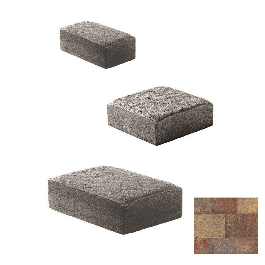Oldcastle Cambridge Cobble Tuscany Paver (Common: 6-in x 6-in; Actual: 6-in x 6-in)