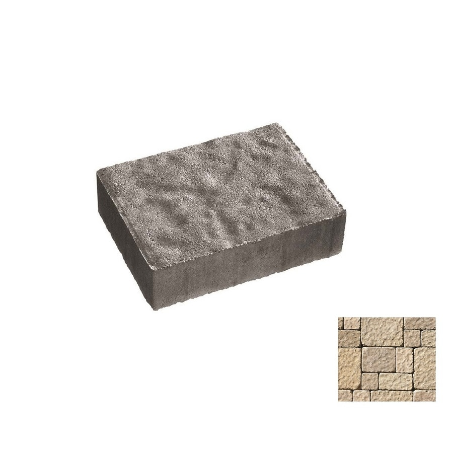 Oldcastle Charleston Tumbled Cambray Tan Paver (Common: 6-in x 6-in; Actual: 6-in x 6-in)
