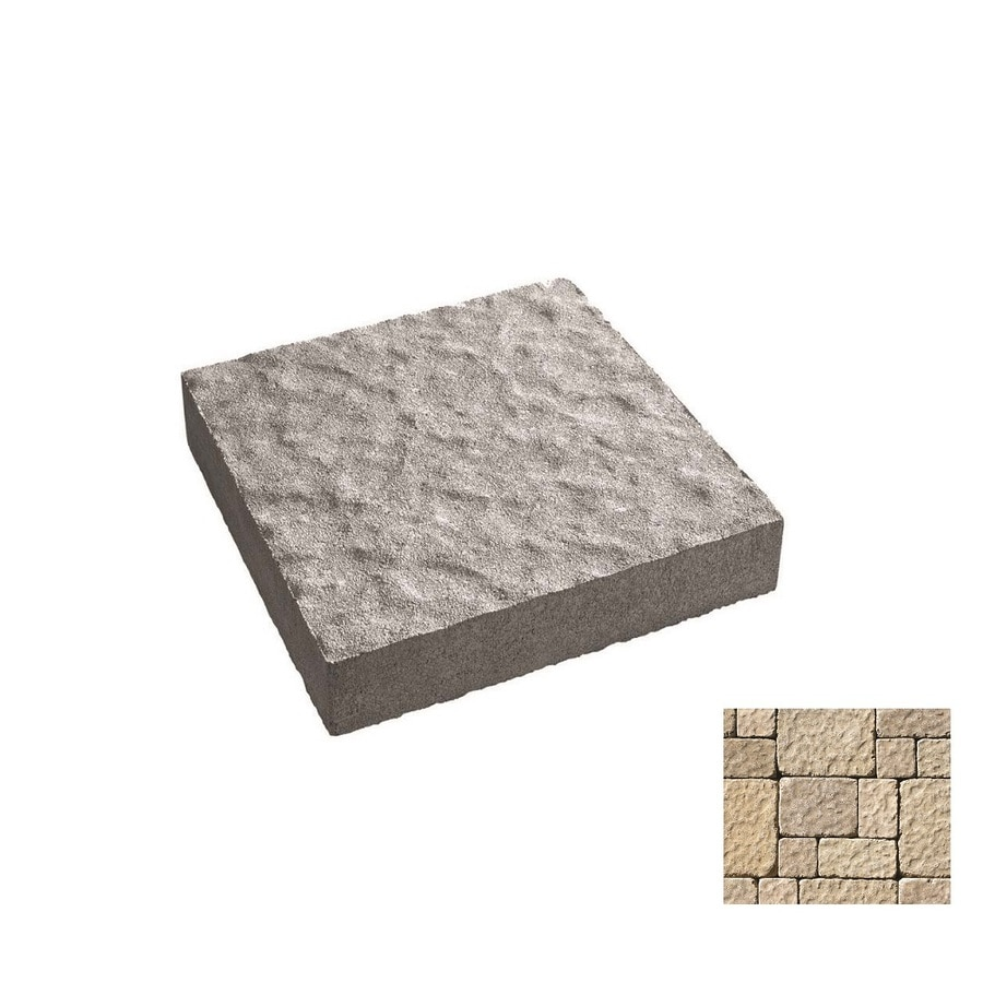 Oldcastle Charleston Tumbled Cambray Tan Paver (Common: 11-in x 9-in; Actual: 11-in x 8.25-in)