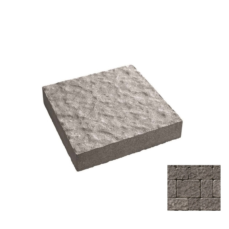 Oldcastle Charleston Tumbled Charcoal Paver (Common: 11-in x 9-in; Actual: 11-in x 8.25-in)