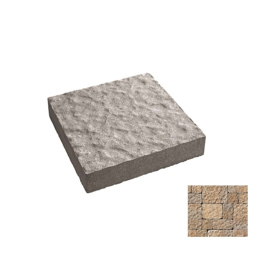 Oldcastle Charleston Tumbled Northwoods Paver (Common: 14-in x 14-in; Actual: 13.75-in x 13.75-in)