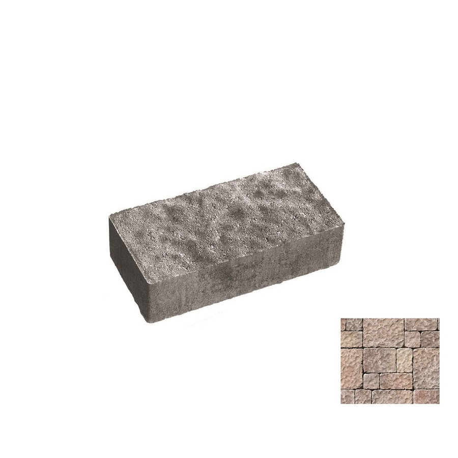 Oldcastle Charleston Tumbled Mahogany Paver (Common: 14-in x 14-in; Actual: 13.75-in x 13.75-in)