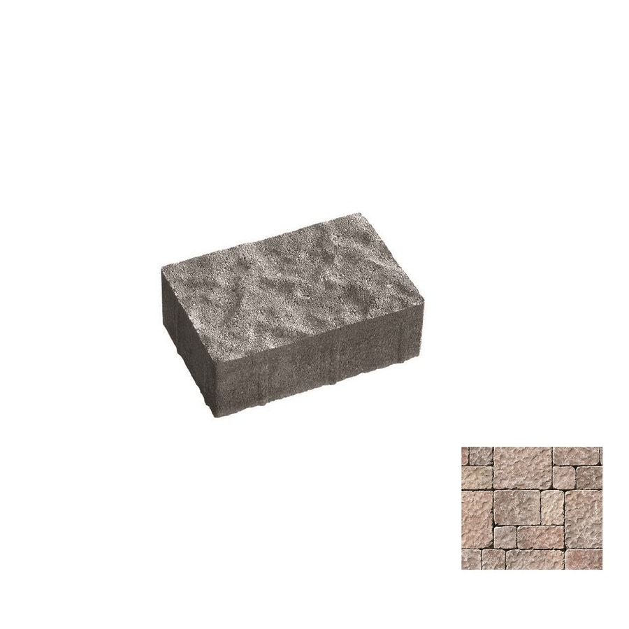 Oldcastle Charleston Tumbled Mahogany Paver (Common: 9-in x 6-in; Actual: 8.25-in x 5.5-in)