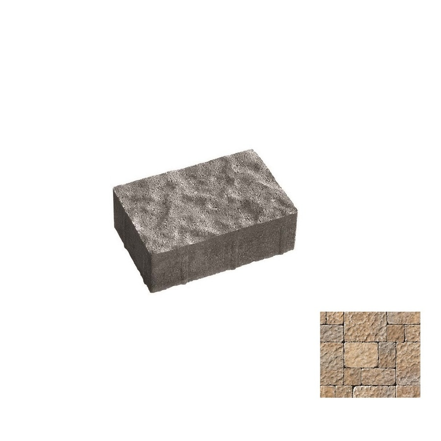 Oldcastle Charleston Tumbled Northwoods Paver (Common: 9-in x 6-in; Actual: 8.25-in x 5.5-in)