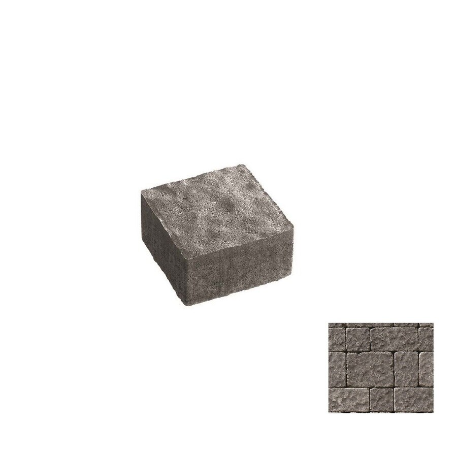 Oldcastle Charleston Tumbled Charcoal Paver (Common: 9-in x 6-in; Actual: 8.25-in x 5.5-in)