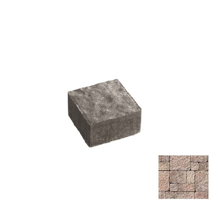 Oldcastle Charleston Tumbled Mahogany Paver (Common: 6-in x 6-in; Actual: 5.5-in x 5.5-in)