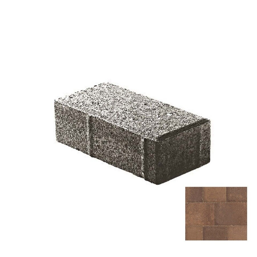 Oldcastle Holland Stone Brown-chestnut Paver (Common: 4-in x 8-in; Actual: 4-in x 8-in)