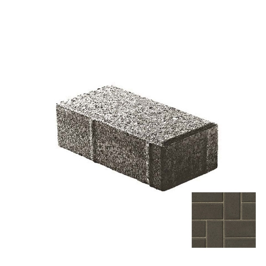 Oldcastle Holland Stone Charcoal Paver (Common: 4-in x 8-in; Actual: 4-in x 8-in)