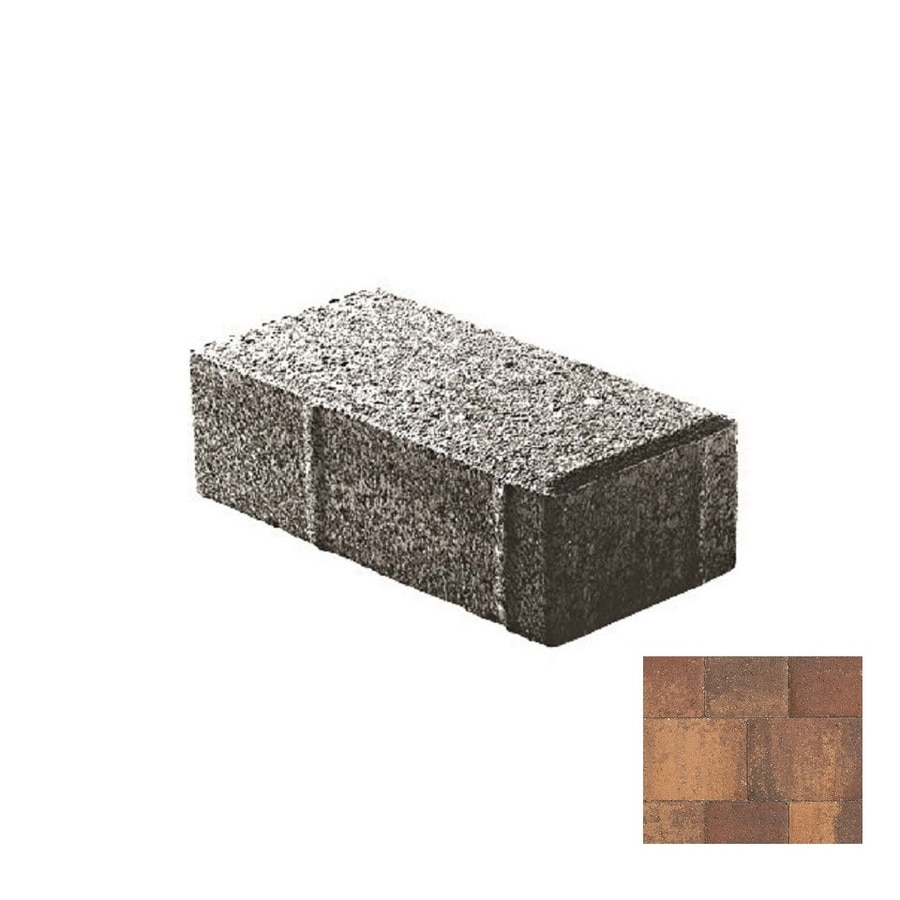 Oldcastle Holland Stone Harvest Blend Paver (Common: 4-in x 8-in; Actual: 4-in x 8-in)