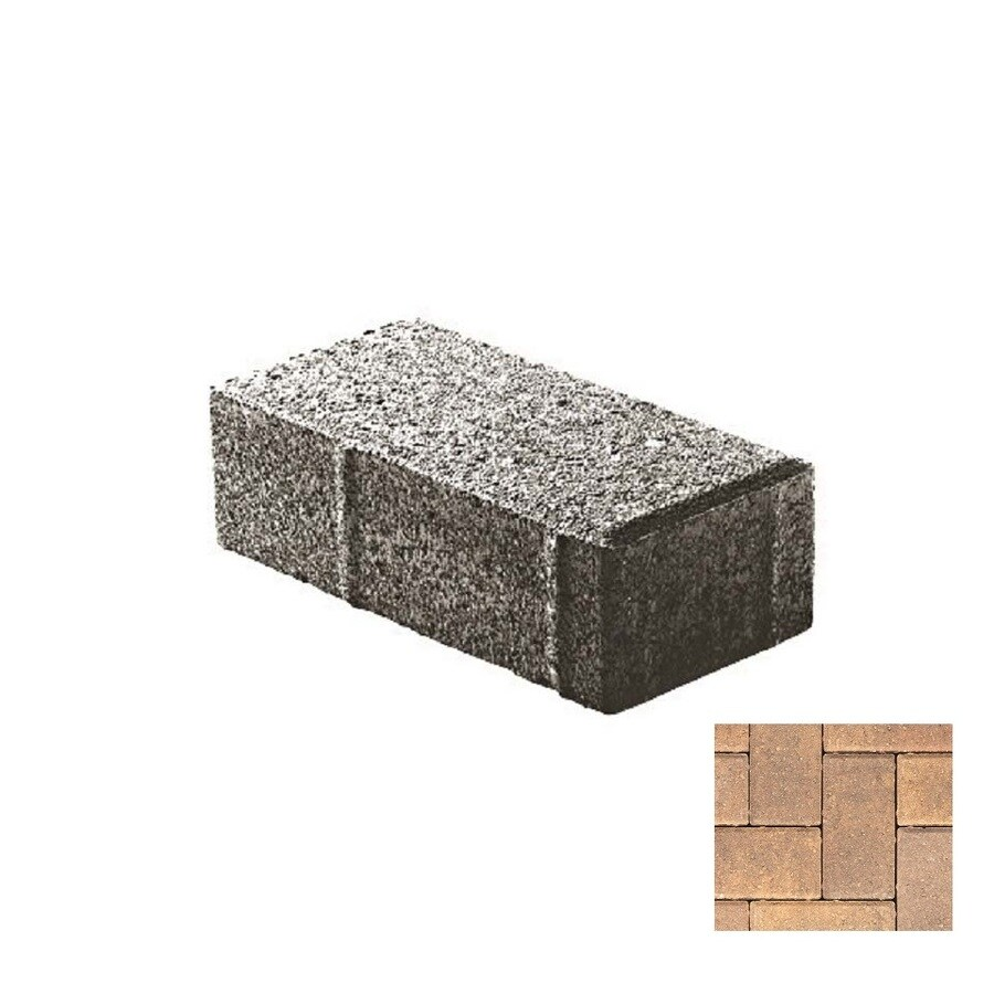 Oldcastle Holland Stone Laporte Paver (Common: 4-in x 8-in; Actual: 4-in x 8-in)