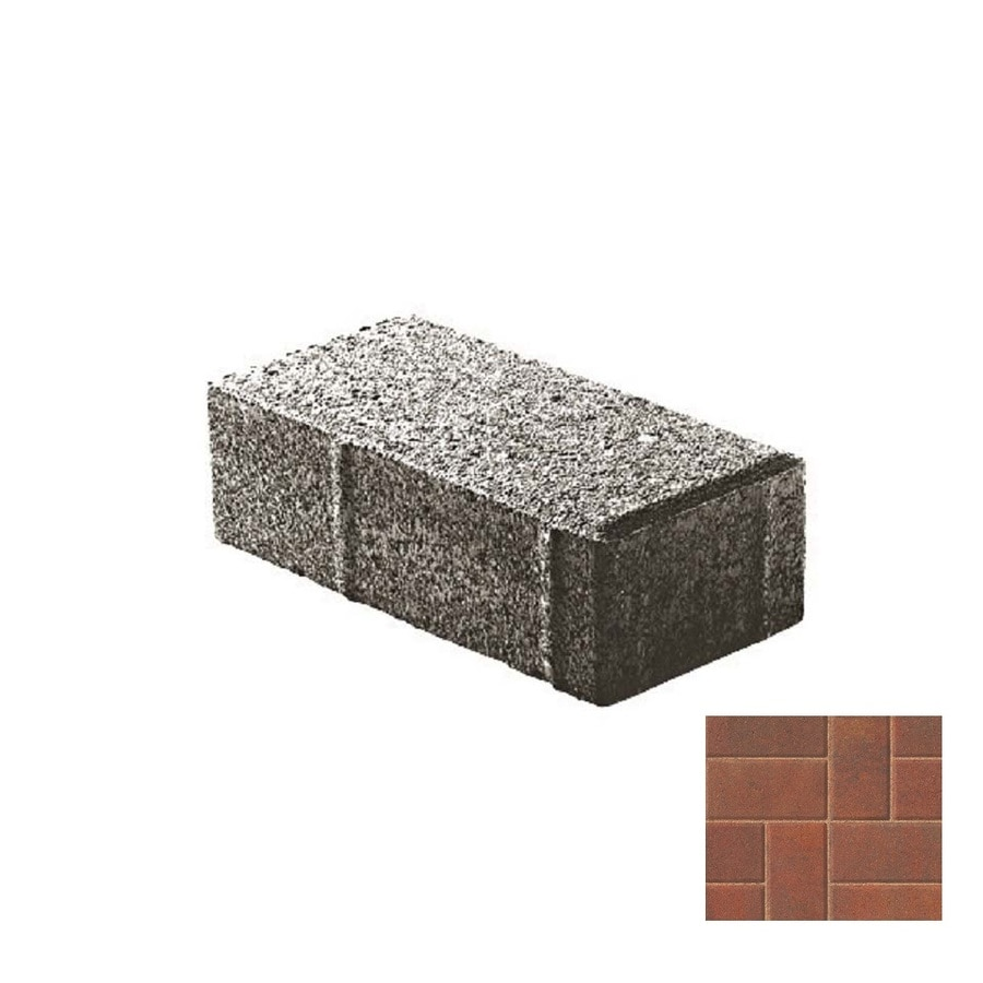 Oldcastle Holland Stone Monroe Interlocking Sections Paver (Common: 4-in x 8-in; Actual: 4-in x 8-in)