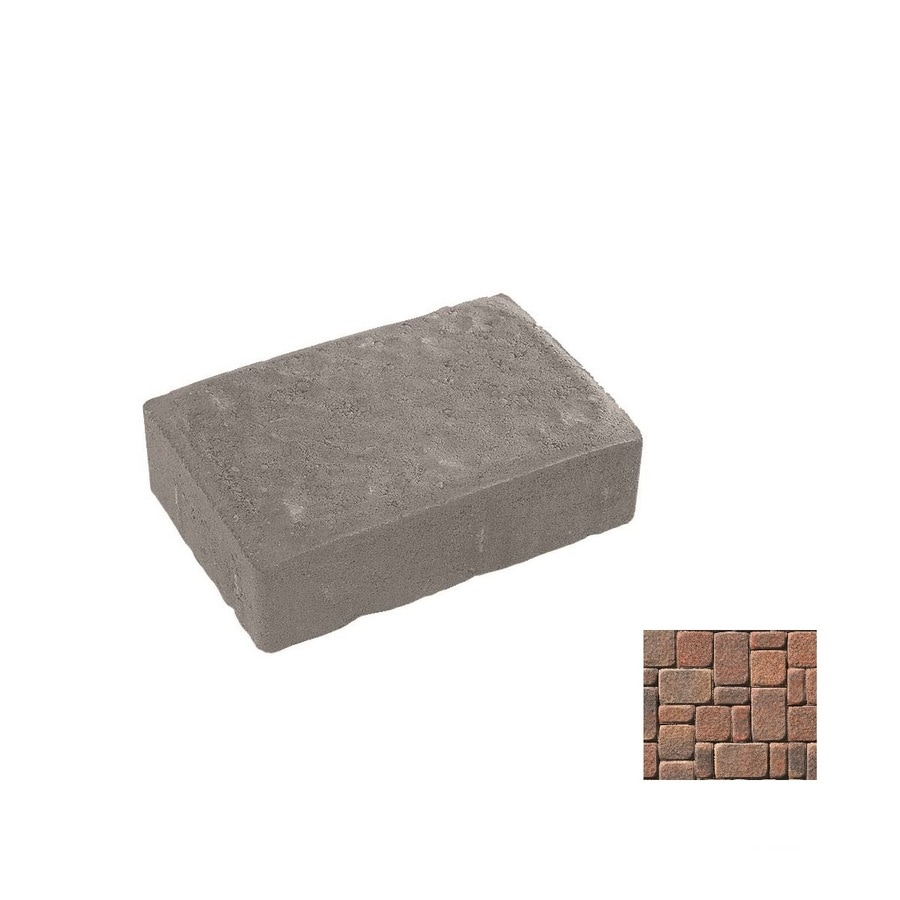 Shop Oldcastle Kingston Autumn Blend Interlocking Sections Paver (Common: 4-in X 8-in; Actual: 4