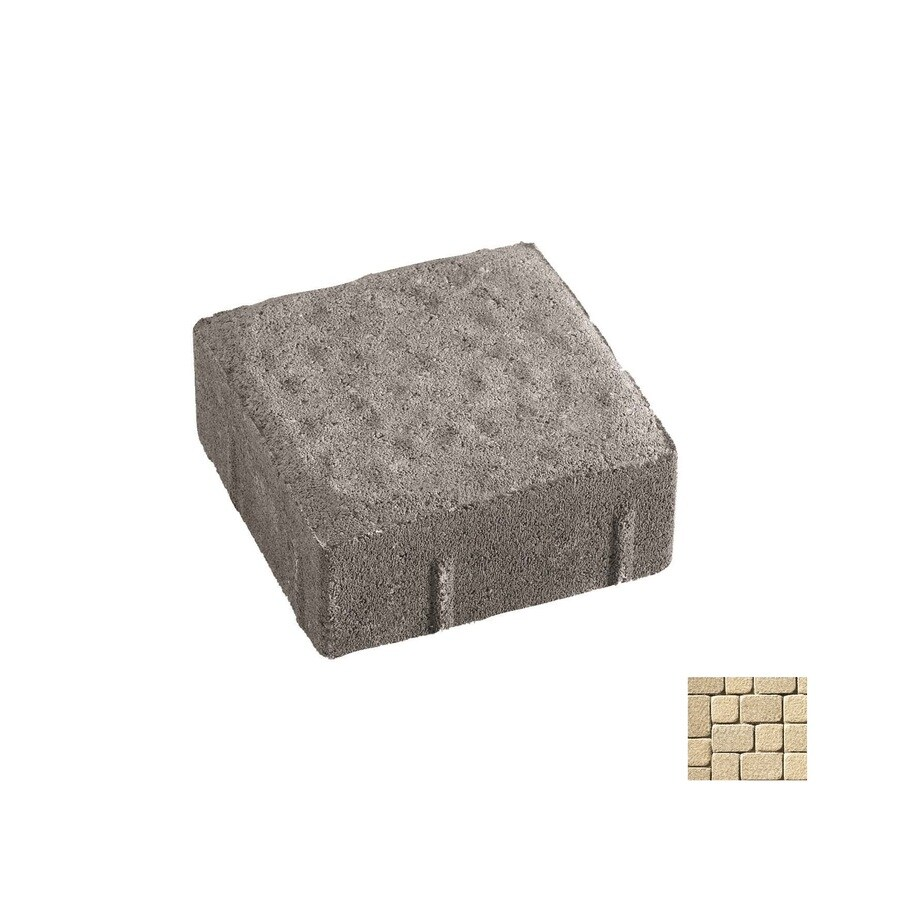 Oldcastle Kingston Cambray Tan Interlocking Sections Paver (Common: 6-in x 9-in; Actual: 5.5-in x 8.25-in)