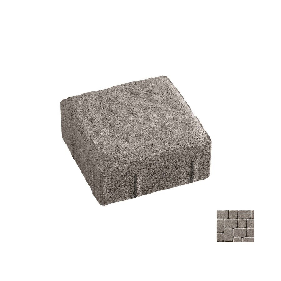 Oldcastle Kingston Charcoal Paver (Common: 6-in x 9-in; Actual: 5.5-in x 8.25-in)