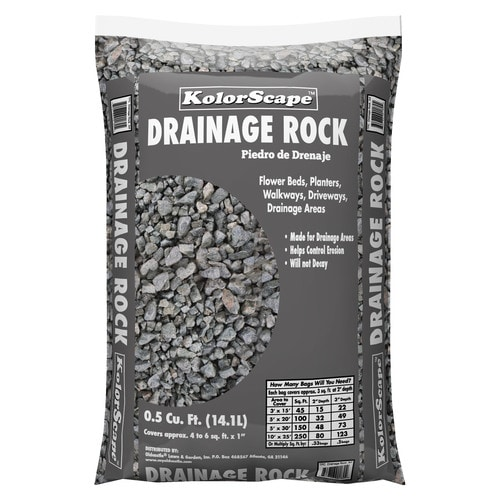 Kolor Scape 0 5 Cu Ft Gray Drainage Rock In The