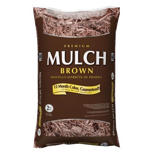 Cu Ft Dark Brown Hardwood Mulch