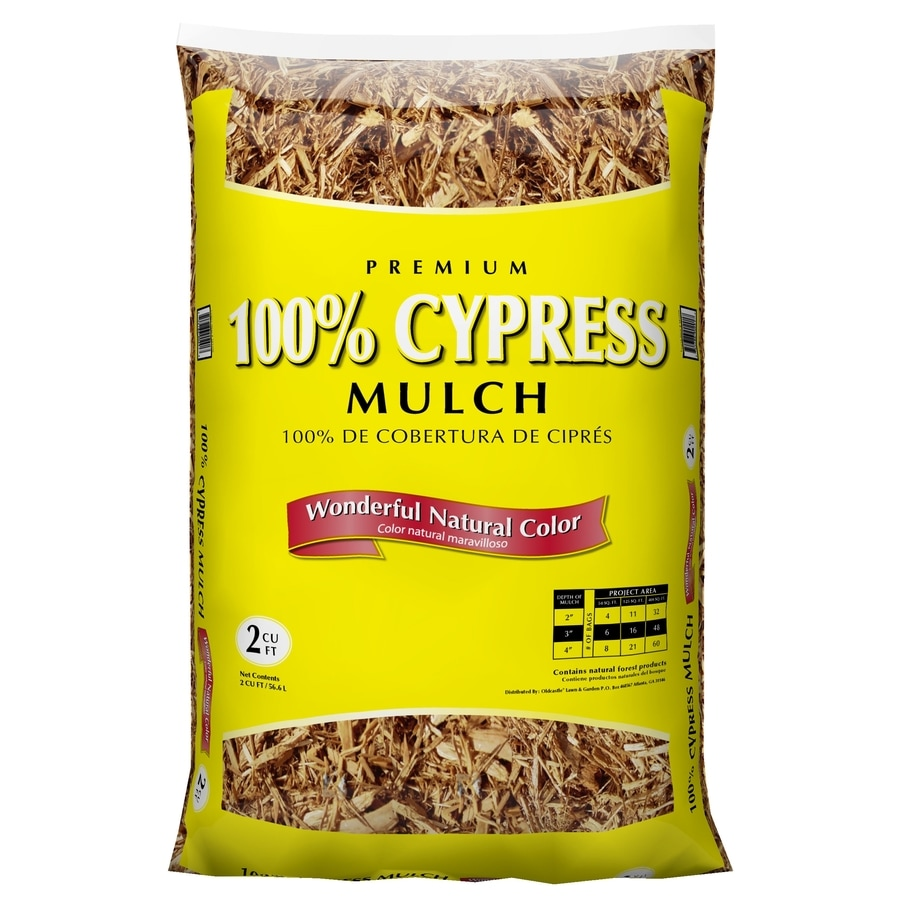 Oldcastle Premium 2-cu ft Light Brown/Gold 100% Cypress Mulch