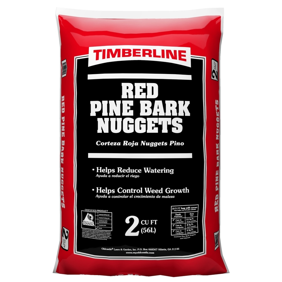 Timberline 2-cu ft Red Pine Bark Nuggets