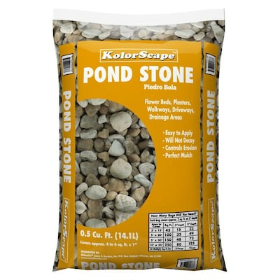 0 5-cu ft Gray Pond Stone